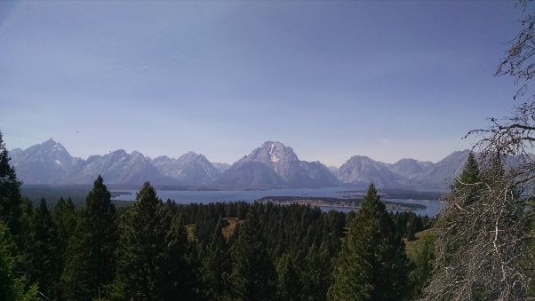 View of the Tetons from Signal Mountain