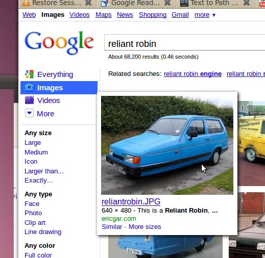 google image for reliant robin